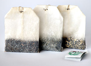 This image shows three different tea bags.