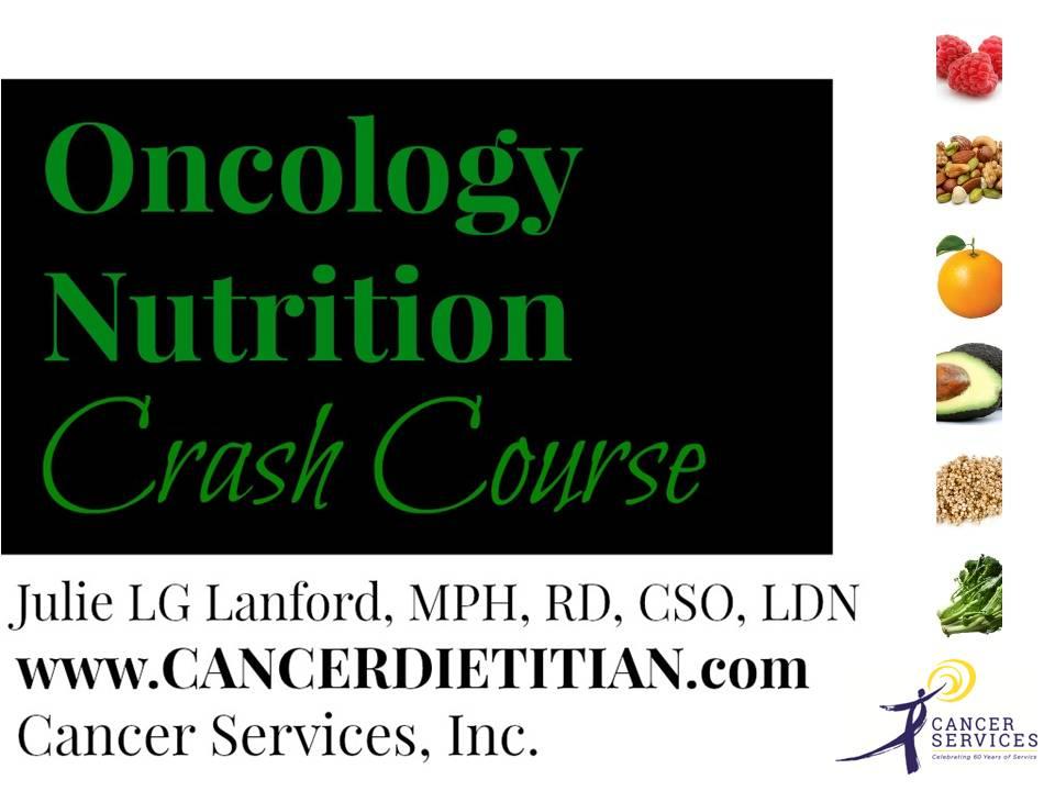 Oncology Nutrition Webinar