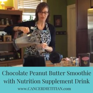 Chocolate Peanut Butter Smoothie with Nutrition Supplement Drink (Canva)