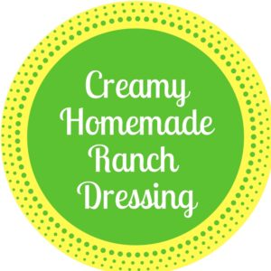 Ranch Dressing Recipe